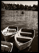 Desert Island Prints - Dingy Docked in Seal Cove Maine Print by Edward Fielding