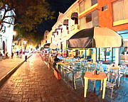 Eating Out Posters - Dining al Fresco in Merida Poster by Mark Tisdale