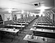 Dining Hall Photos - Dining Hall Interior by Underwood Archives