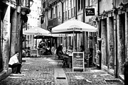 Historic Center Framed Prints - Dining in Porto Framed Print by John Rizzuto