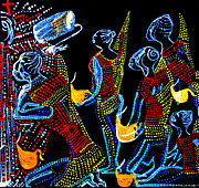 Dinka Wise Virgins Print by Gloria Ssali
