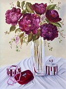 Garnet Framed Prints - Dinner Date Framed Print by Carol Sweetwood