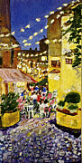 South Of France Painting Originals - Dinner in Le Lavandou by Rex Maurice Oppenheimer