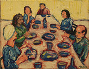 Dinner Painting Originals - Dinner Party by Clarence Major