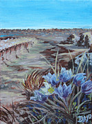 Badlands Painting Originals - Dinosaur Provincial Park by Debbie Nicolaisen