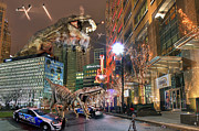 Destruction Digital Art - Dinotroit by Nicholas  Grunas