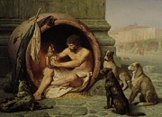 Homeless Prints - Diogenes Print by Jean Leon Gerome