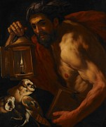 Owl Paintings - Diogenes by Johann Karl Loth
