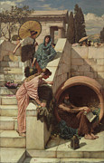 Pre-raphaelites Art - Diogenes by John William Waterhouse