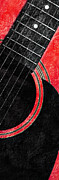 Andee Photography - Diptych Wall Art - Macro - Red Section 2 of 2 - Giants Colors Music - Abstract