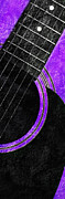 Vikings Mixed Media Prints - Diptych Wall Art - Macro - Purple Section 2 of 2 - Vikings Colors - Music - Abstract Print by Andee Photography