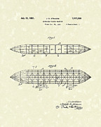 Dirigible Acrylic Prints - Dirigible 1931 Patent Art Acrylic Print by Prior Art Design