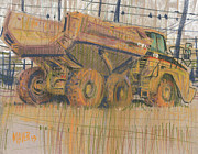 Dirt Drawings - Dirt Mover by Donald Maier