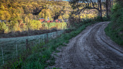 Fence Framed Prints - Dirt Roads Framed Print by Bill  Wakeley