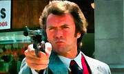 44 Magnum Prints - Dirty Harry Iconic image Print by Ayrtam Ryall
