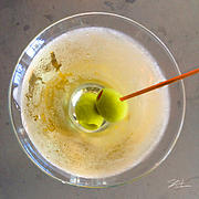 Alcoholic Drink Prints - Dirty Martini  Print by Shari Warren