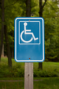 Sign Pastels - Disabled Parking Sign by Jannis Werner