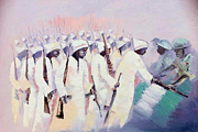 Oyoroko Ken Ochuko Paintings - Disarmament  by Oyoroko Ken ochuko