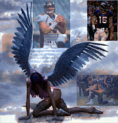 Tim Tebow Framed Prints - Discarded Angel Framed Print by Michael Knight