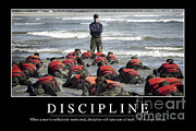 Jackets Posters - Discipline Inspirational Quote Poster by Stocktrek Images