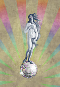 Disco Mixed Media Posters - Disco Venus Poster by Angelo Cerantola