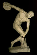 Homo-erotic Framed Prints - Discobolus  Framed Print by Myron