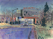 Industrial Pastels Originals - Discount Tire by Donald Maier