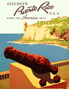 Wpa Prints Framed Prints - Discover Puerto Rico Framed Print by Pg Reproductions