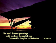 Affirmation Posters - Discover Your Wings Poster by Mike Flynn