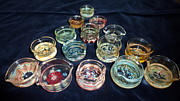 Heady Glass Dishes Framed Prints - Dishes Framed Print by Glass Dabber