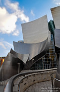 Hall Digital Art Originals - Disney Hall by Gandz Photography