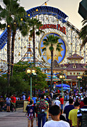 Paradise Pier Attraction Framed Prints - Disney Paradise Framed Print by Ricky Barnard