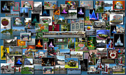 Magic Kingdom Photographs Prints - Disney World Collage Rectangle Print by Thomas Woolworth