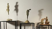 Nude Sculptures Sculpture Prints - Display sculpture - 1 Print by Flow Fitzgerald