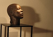 Woman Head Sculpture Prints - Display sculpture - 2 Print by Flow Fitzgerald