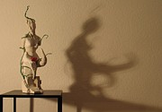 Nude Sculptures Sculpture Prints - Display sculpture - 3 Print by Flow Fitzgerald