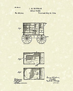 Wagon Drawings Framed Prints - Display Wagon 1884 Patent Art Framed Print by Prior Art Design