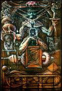Tarot Paintings - Dissection Six by David Bollt