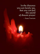 Candle Lit Posters - Distant Prayer Poster by Renee Trenholm