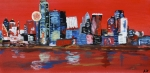 Distorted Dallas Skyline Print by Austin James
