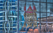 Jean Noren Metal Prints - Distorted Portland Metal Print by Jean Noren