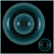 Blows Posters - Distraction Abstract Blue Bowls Poster by Gillian Owen