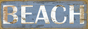 Grace Pullen - Distressed Beach Sign
