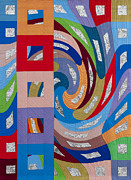 Quilting Tapestries - Textiles - Disturbances 10 by Marilyn Henrion