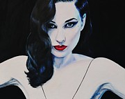 Porcelain Paintings - Dita in Charge by Shirl Theis