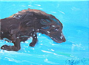 Retriever Prints Originals - Dive by Sheila Wedegis