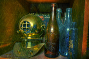 Beer Bottle Posters - Divers Treasure Poster by Paul Ward
