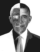 President Obama Metal Prints - Divider In Chief Metal Print by Cristophers Dream Artistry