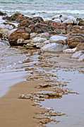 Reflection Of Rocks In Water Prints - Dividing Line Print by Jocelyn Ball