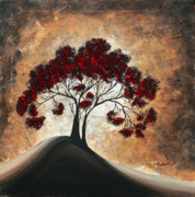 Red Tree Paintings - Divine Intervention II by MADART by Megan Duncanson